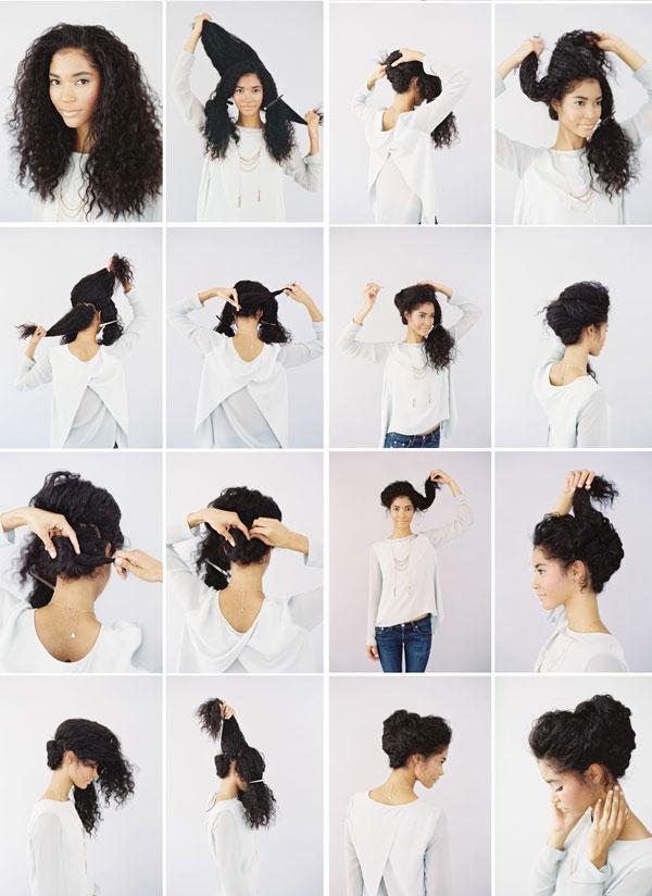 Прически для длинных кудрявых волос в домашних условиях своими руками