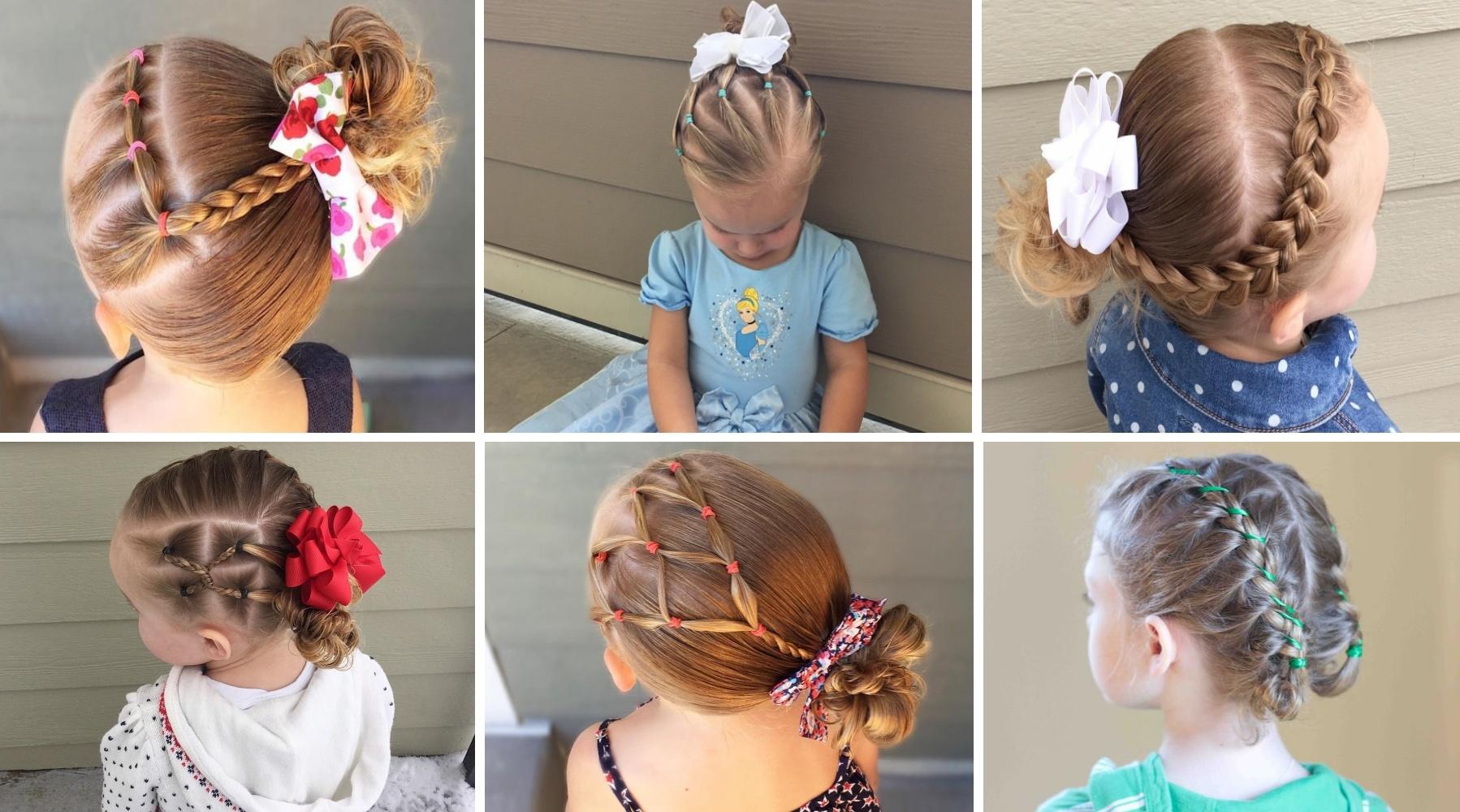 Быстрая прическа на девочку 10 простых причесок для девочек с резиночками